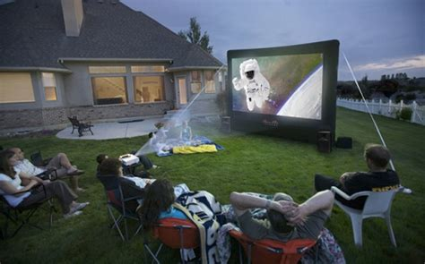 backyard movie projectors inflatable movie screen outdoor theater rental ct