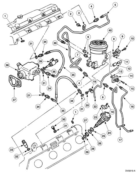Fuel System Diagram 7 3 Powerstroke 97 Powerstroke Fuel Filter Housing Removal Diagram Get