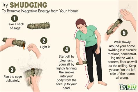house cleansing with sage how to remove negative energy from your home top 10 home remedies