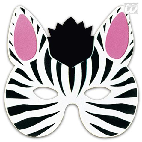 printable animal masks zebra kids animal mask