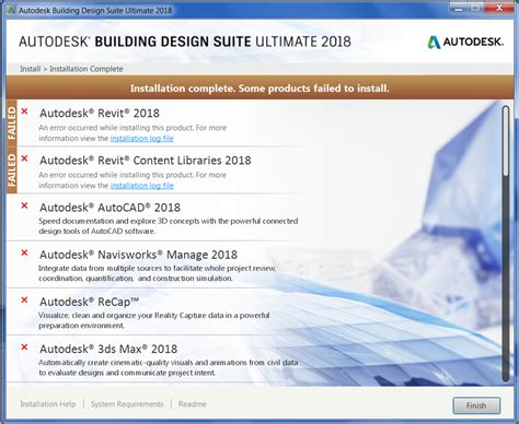 solved trouble installing building suite 2018 in