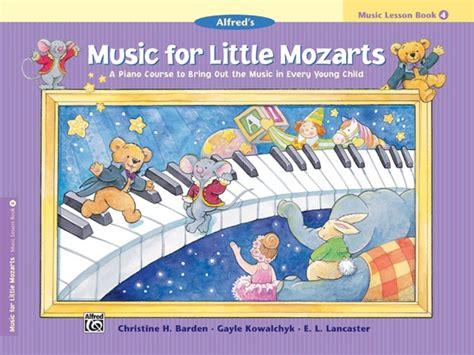 For Mozarts Lesson Book 4 for mozarts recital book 3 central ltd