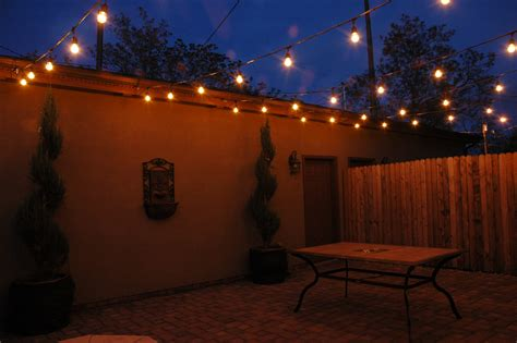 Exterior Patio Lighting Turn Your Outdoor Living Area Into A Year With Permanent Festival Lighting