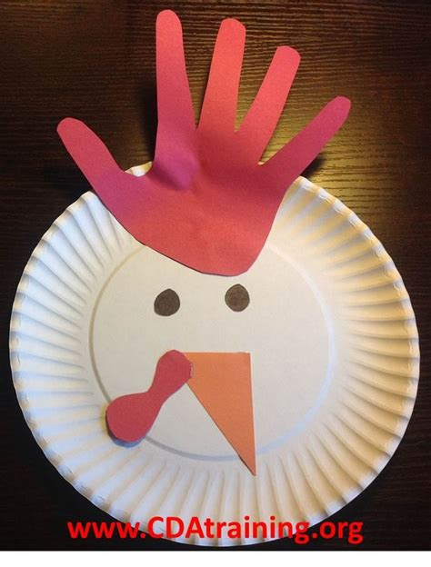 Paper Plate Chicken Craft - farm theme