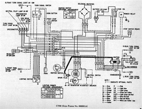 part  complete wiring diagrams  honda ct   wiring diagrams
