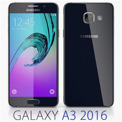Samsung Tab A3 3d model samsung galaxy a3 2016