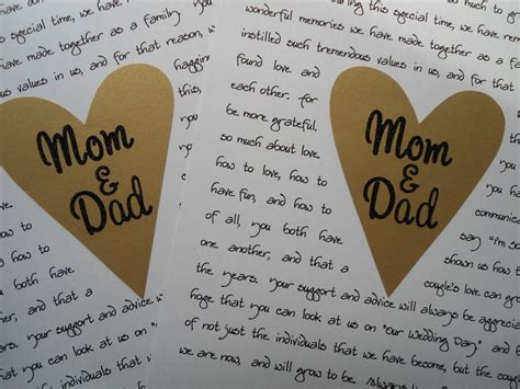thank you letter to parents from and groom 12 best wedding gifts for parents images on
