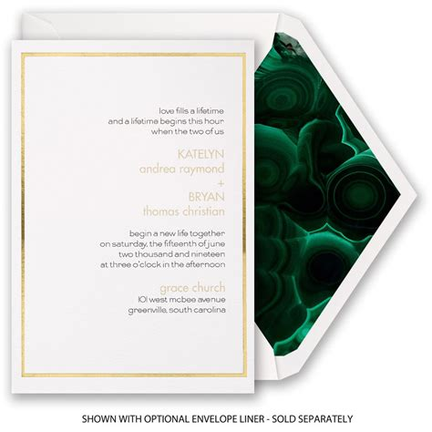 Thick Paper Wedding Invitations by Gold Lining Invitation Invitations By