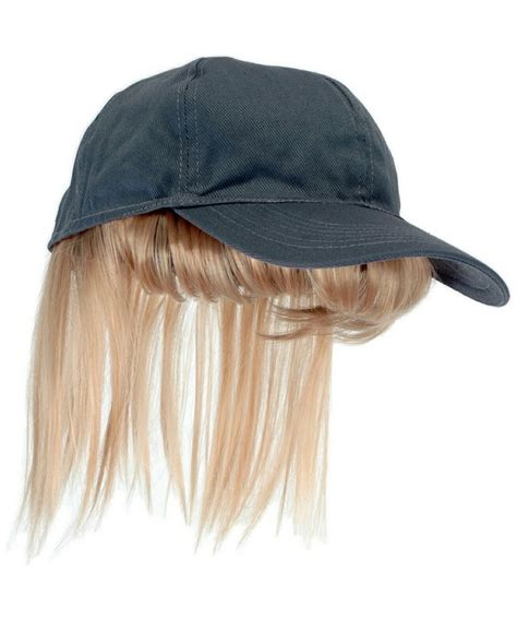 hats with attached bangs gray baseball cap with blond bangs adult hat at wonder