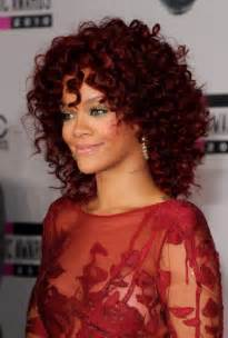 curly hair color rihanna hairstyles medium curly hairstyle for