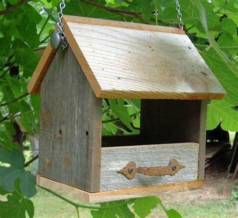 rustic cedar hanging nest box or bird feeder nest box nest and bird