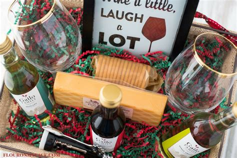 what to put in a christmas basket diy wine gift basket ideas flour on my