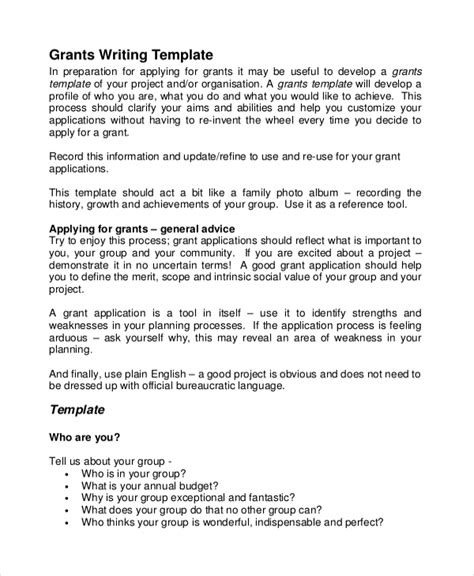 grant application templates 6 free word pdf download