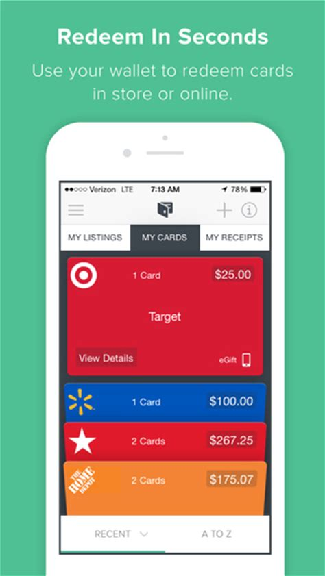 Apps To Get Gift Cards - raise buy sell gift cards mobile wallet on the app store on itunes