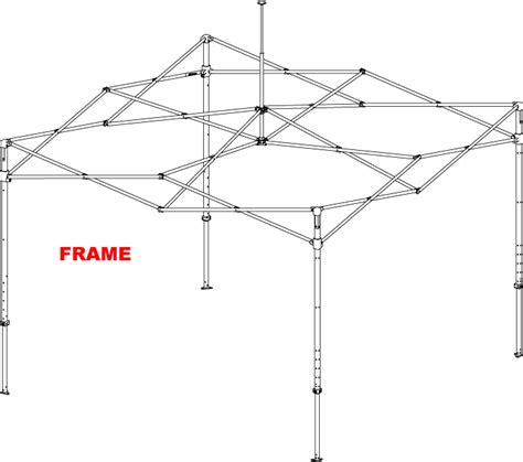 First Up Gazebo Frame by 10x10 Frame Parts Bing Images