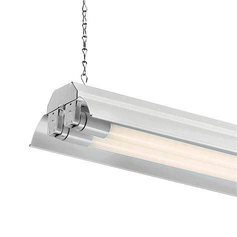 4 foot shop light envirolite 4 ft white led shop light with two t8 led