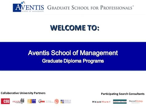 Senior Management Both Mba Phd by Aventis School Of Management Graduate Diploma For