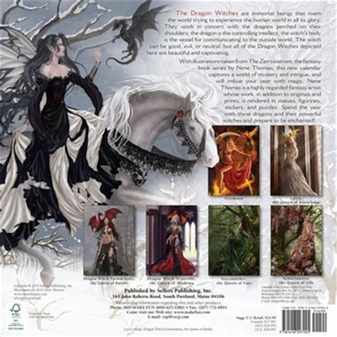 libro dragon witches calendar the nene thomas 2016 dragon witch fairy calendar fairyglen com