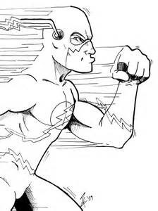 free coloring pages flash superhero