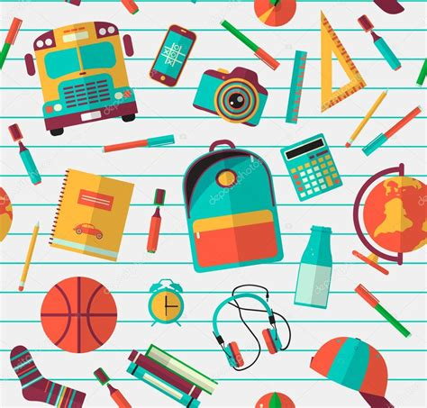 pattern school vector back to school background vector illustration back to