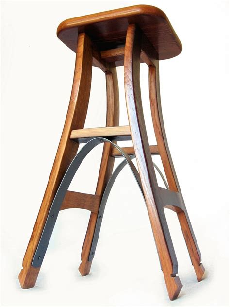 Shed Wooden Barrel Stools by Buy A Made Eiffel Barstool Recycled Oak Wine Barrel