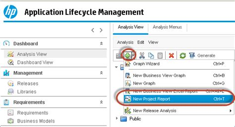 hp alm report templates dashboard reports analysis in hp alm quality center