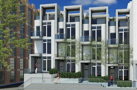 Home Design For 2000 Sq Ft Area Toronto Modern Townhomes Edition Richmond