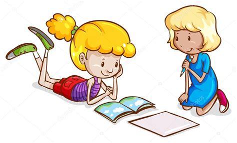 imagenes niños estudiando matematicas ni 241 as estudiando vector de stock 169 blueringmedia 55127013