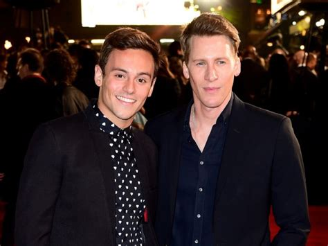 Tom Hit The Carpet by Tom Daley And Dustin Lance Black Snaps Of Their