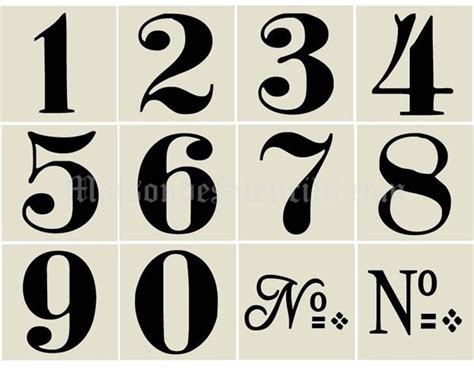 25 Best Ideas About Number Stencils On Pinterest Number Template Printable Number Fonts And House Number Template