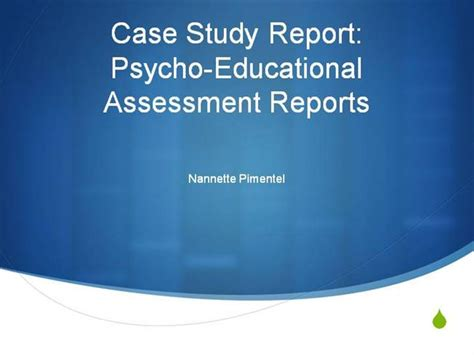 psychoeducational report template study psychoeducational report1 ppt authorstream