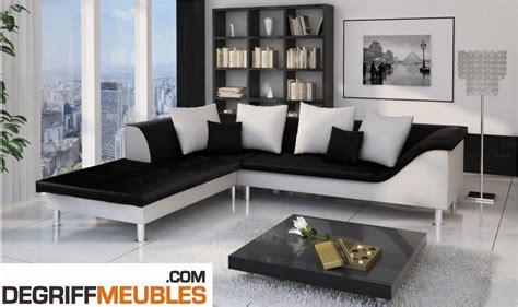 canape angle noir et blanc photos canap 233 d angle cuir blanc et noir