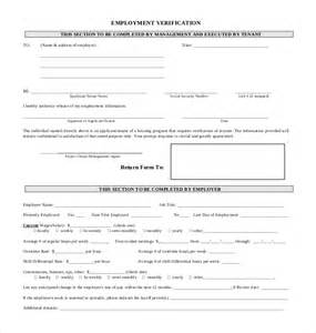 verification of employment form template 11 sle employment verification forms sle forms