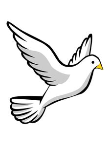 Vector de la imagen de una paloma volando | Dibujos de