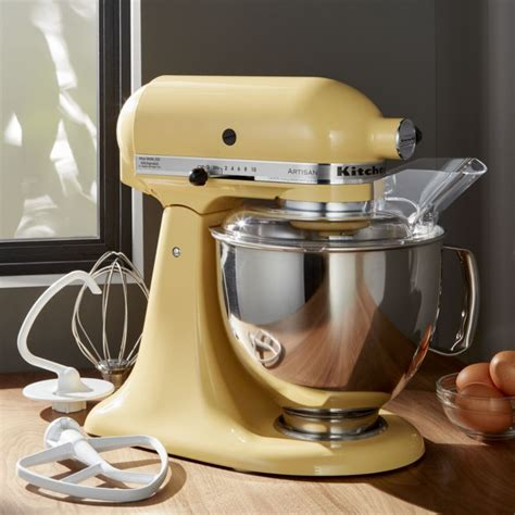 yellow kitchen aid mixer kitchenaid 174 artisan majestic yellow stand mixer crate