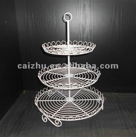 Cake Rack by White 3 Tier Shape Wire Cupcake Stand Cake Display