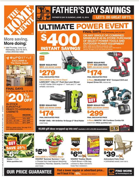 home depot flyer ontario hello ross