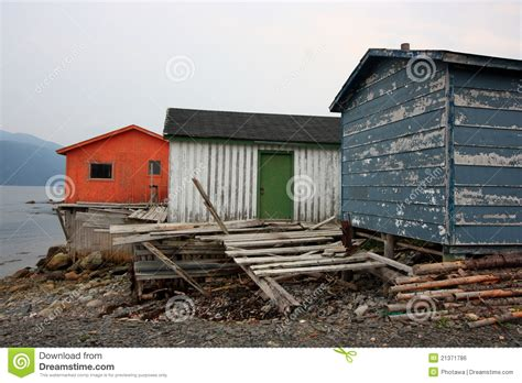 Fishing Sheds by Fishing Sheds In Norris Point Editorial Photo Image