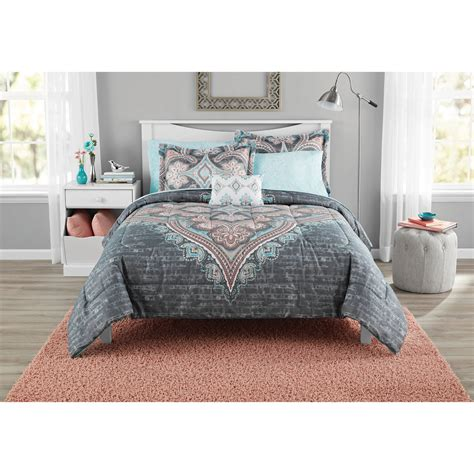 buy mainstays bed in a bag global diamond comforter set