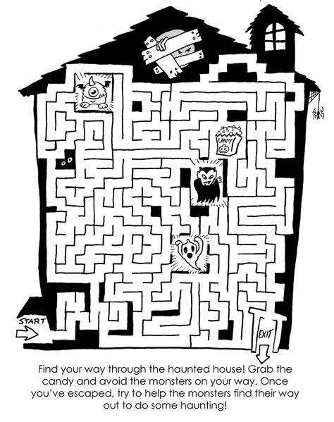 plummy press haunted house maze