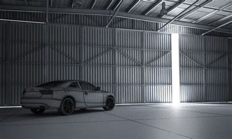 3d garage white audi a5 in garage 3d model cgtrader
