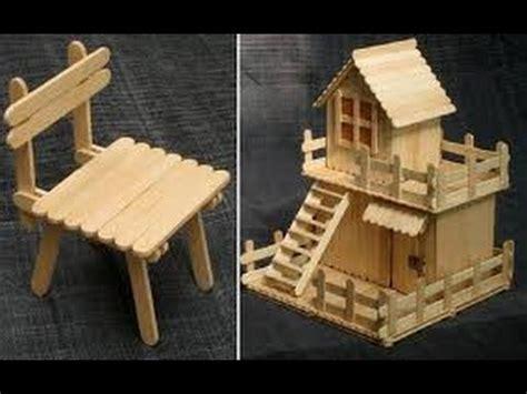 casa con palitos de madera manualidades para ni os manualidades para ni 241 os con palitos de helado youtube