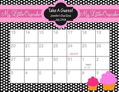 calendar template for baby shower printable due date calendar baby shower game guess