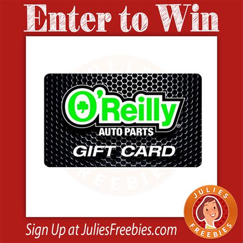 Oreillys Gift Card - o reilly auto parts gift card giveaway and instant win game julie s freebies
