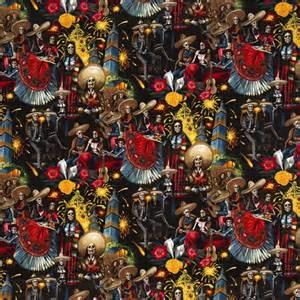 How To Wash Dark Colors - black alexander henry fabric with skeletons celebrating skulls fabric fabric shop modes4u