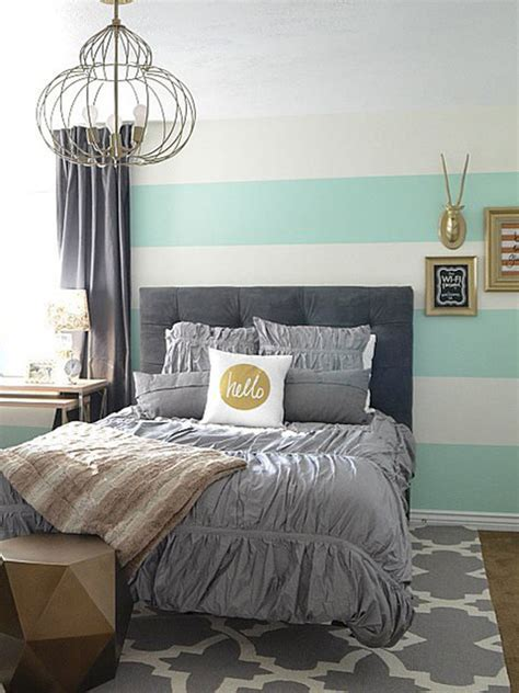 grey and gold bedroom an aqua gold and gray guest bedroom transitional