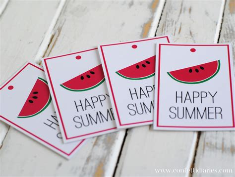 Free Printable Gift Tags Summer | free printable happy summer gift tags katarina s paperie