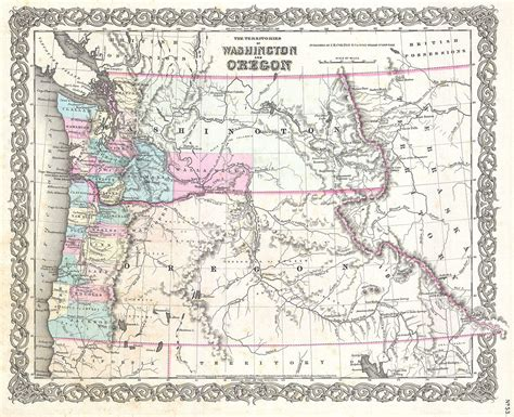 a map of oregon and washington map washington oregon afputra