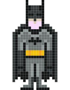 Minecraft Pixel Templates Batman by Yoda Pixel Stickaz Gamer Perler Bead Creations