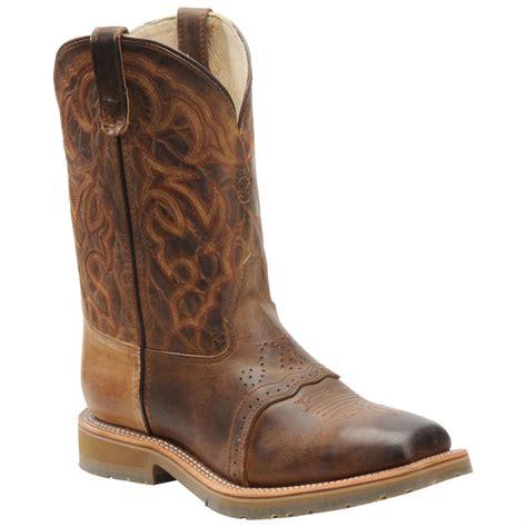 mens steel toe cowboy boots 10 quot s h 174 steel toe ropers 187597 cowboy